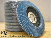 Nhám xếp xanh Premium® Zirco-P001, Zirconia Flap Disc Grinding Wheel. 100 mm, 72 lá xếp